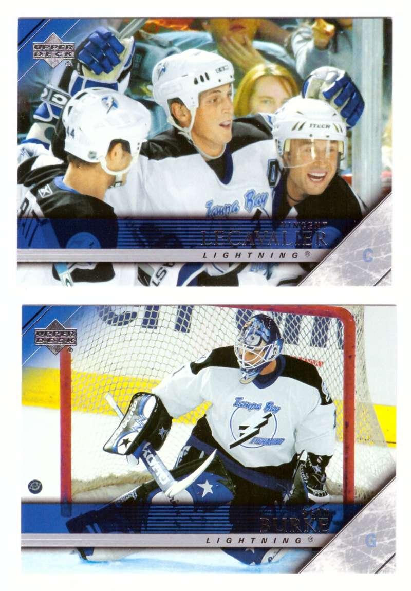 2005-06 Upper Deck Hockey Team Set (1-200, 243-442) Tampa Bay Lightning
