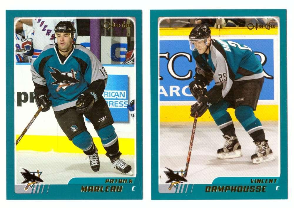 2003-04 O-Pee-Chee (OPC) Hockey Team Set (1-330)  - San Jose Sharks