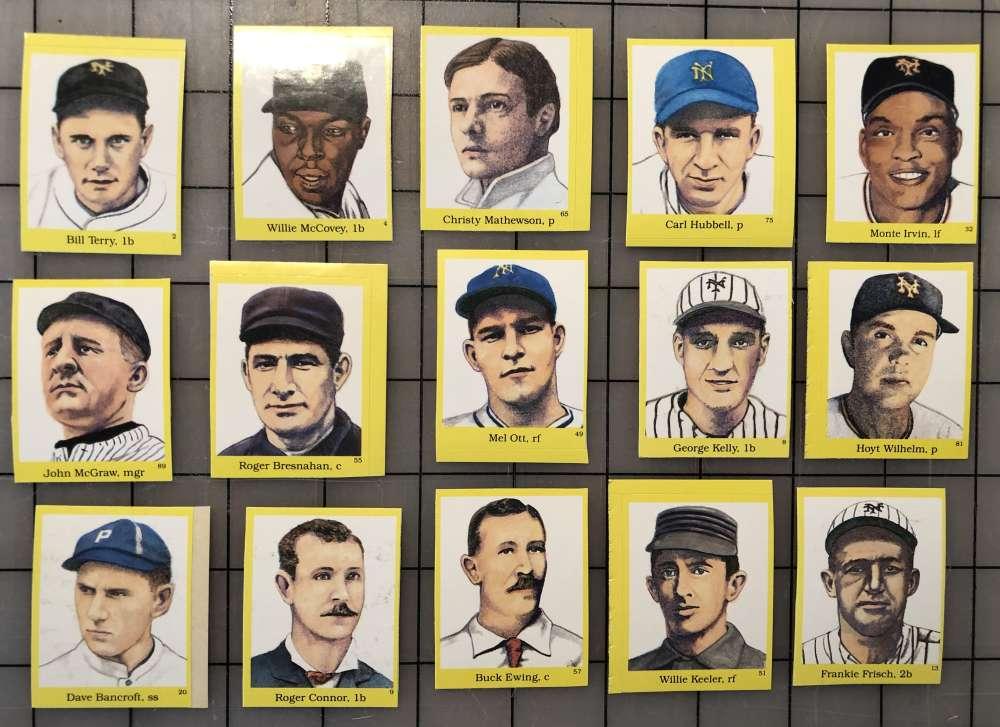 1989 Hall of Fame Stickers - NEW YORK / SAN FRANCISCO GIANTS Team Set