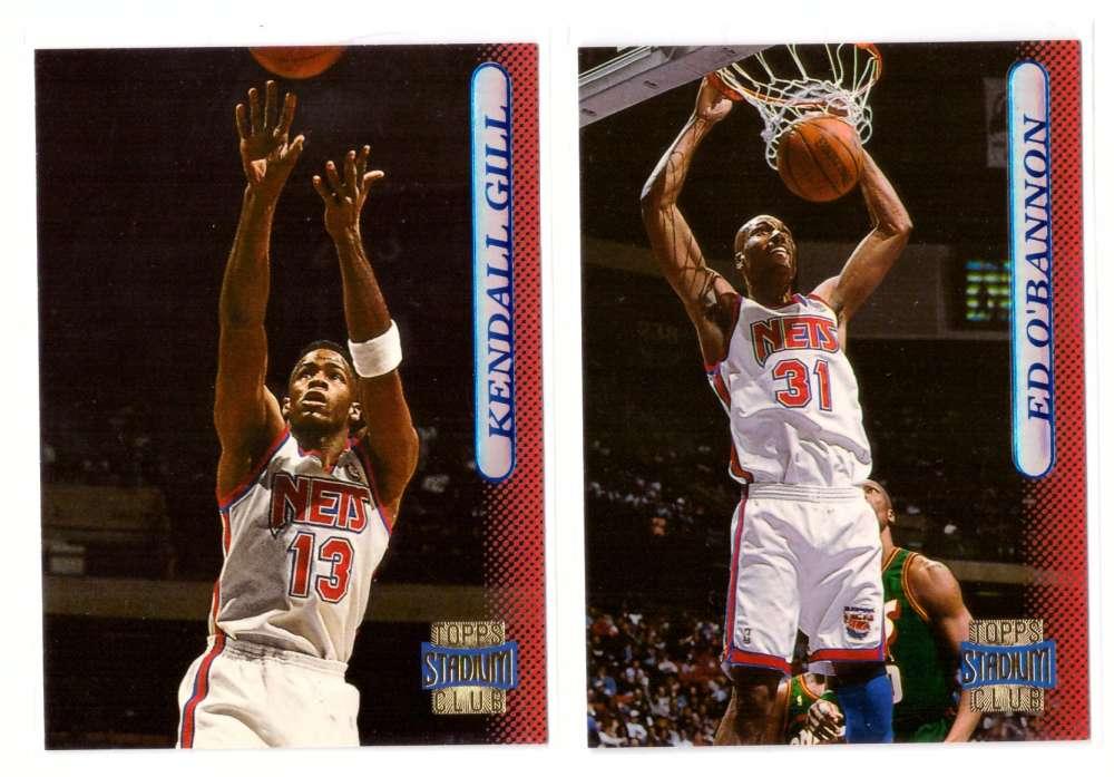 1996-97 Stadium Club Basketball Team Set - New Jersey Nets
