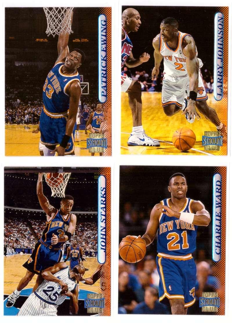 1996-97 Stadium Club Basketball Team Set - New York Knicks