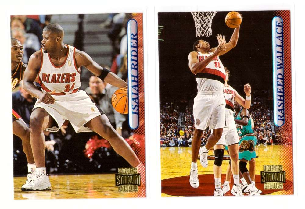 1996-97 Stadium Club Basketball Team Set - Portland Trail Blazers