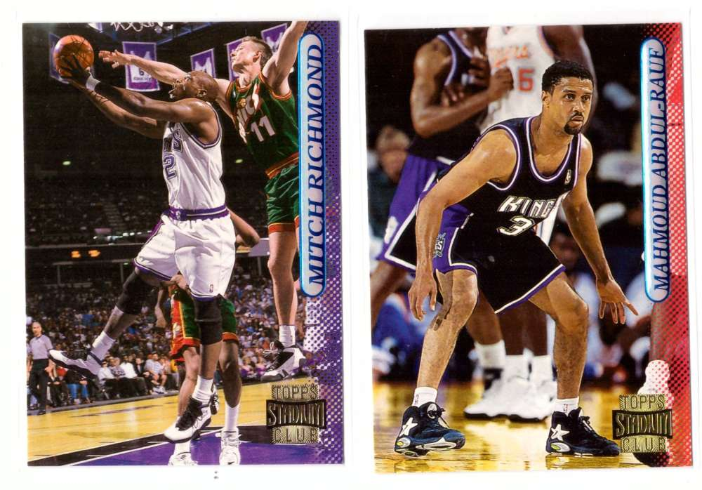 1996-97 Stadium Club Basketball Team Set - Sacramento Kings