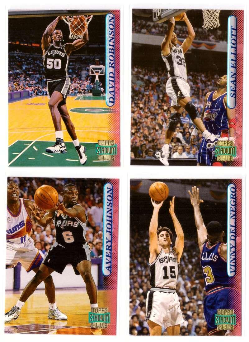 1996-97 Stadium Club Basketball Team Set - San Antonio Spurs