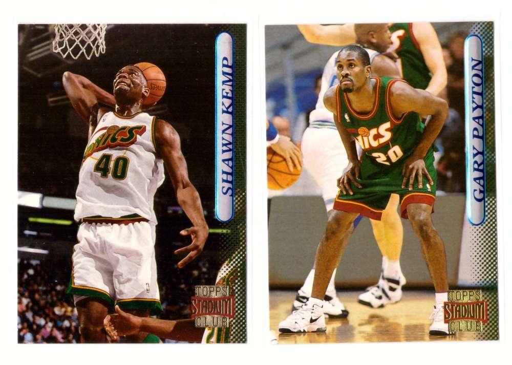 1996-97 Stadium Club Basketball Team Set - Seattle Supersonics