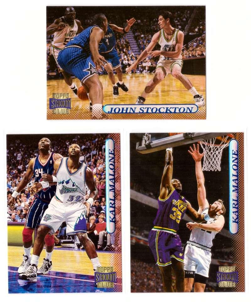1996-97 Stadium Club Basketball Team Set - Utah Jazz