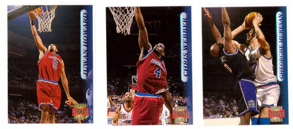 1996-97 Stadium Club Basketball Team Set - Washington Bullets