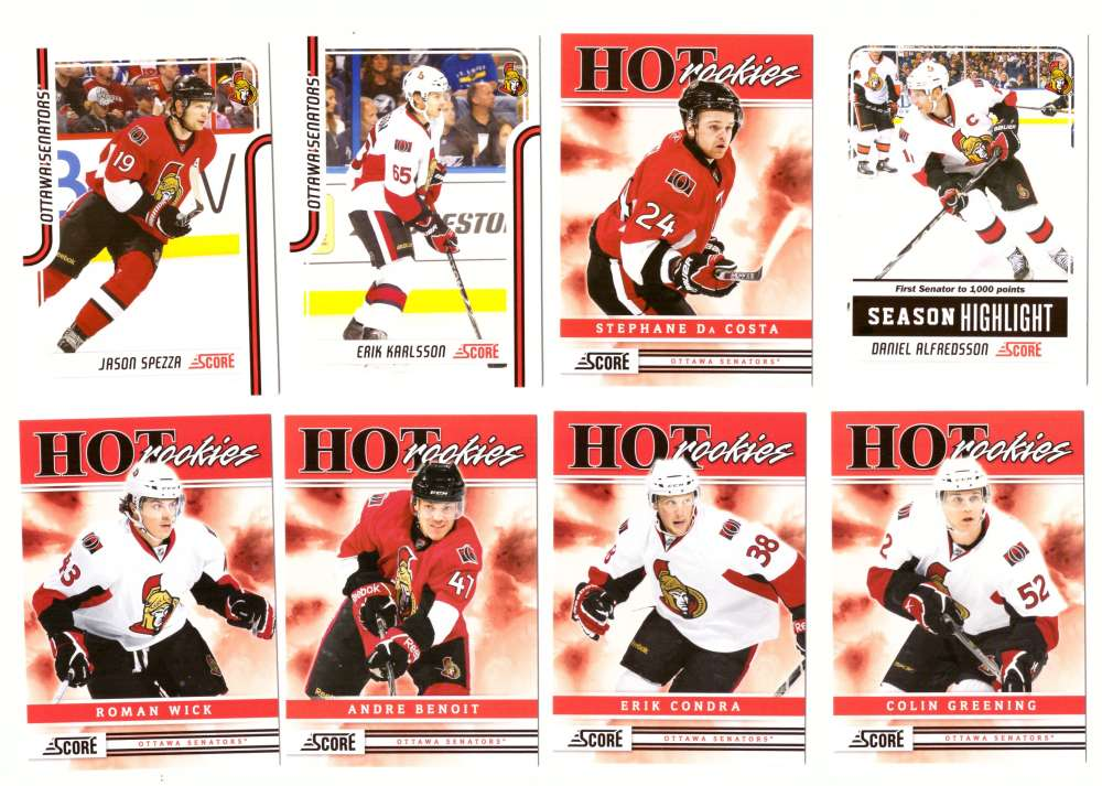 2011-12 Score Hockey (1-546) Team Set - Ottawa Senators