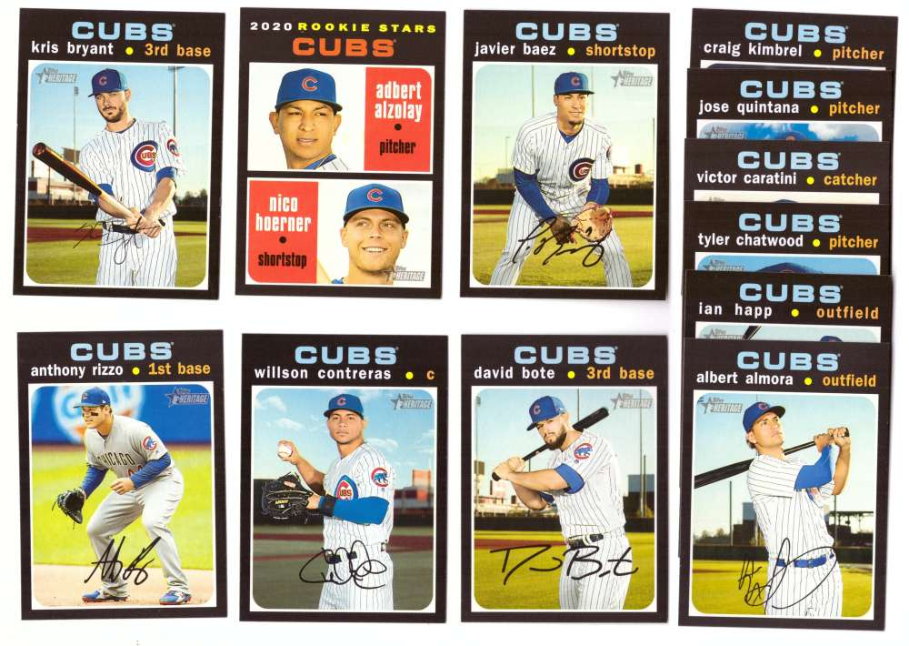 2020 Topps Heritage - CHICAGO CUBS Team Set