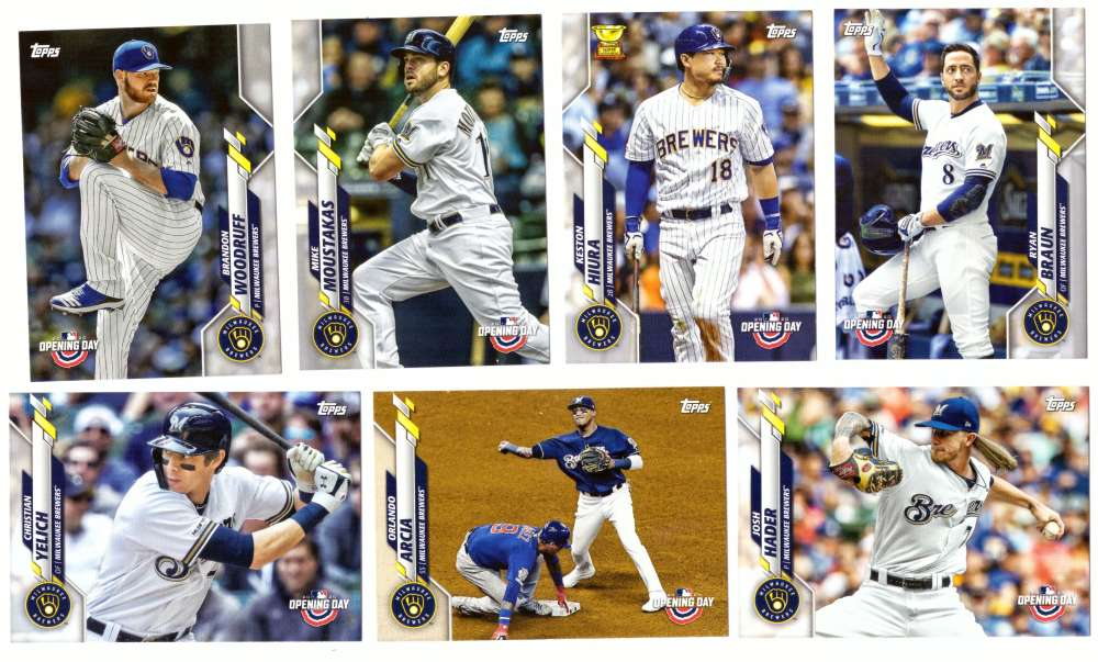 2020 Topps Opening Day - MILWAUKEE BREWERS Team Set