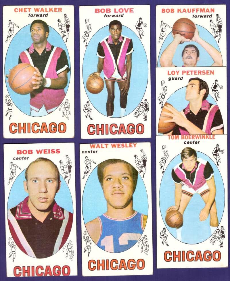 1969-70 Topps Basketball Team Set - Chicago Bulls