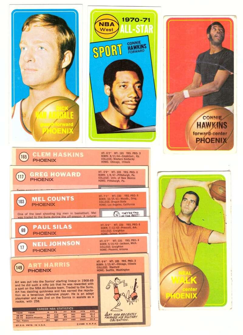 1970-71 Topps Basketball Team Set - Phoenix Suns