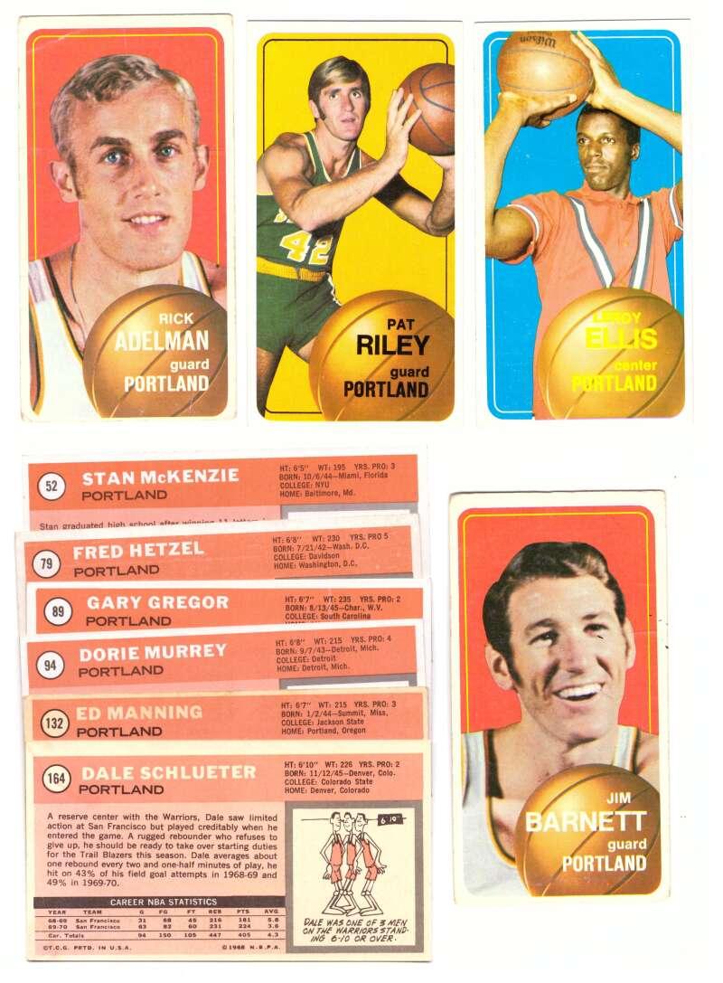 1970-71 Topps Basketball Team Set - Portland Trail Blazers