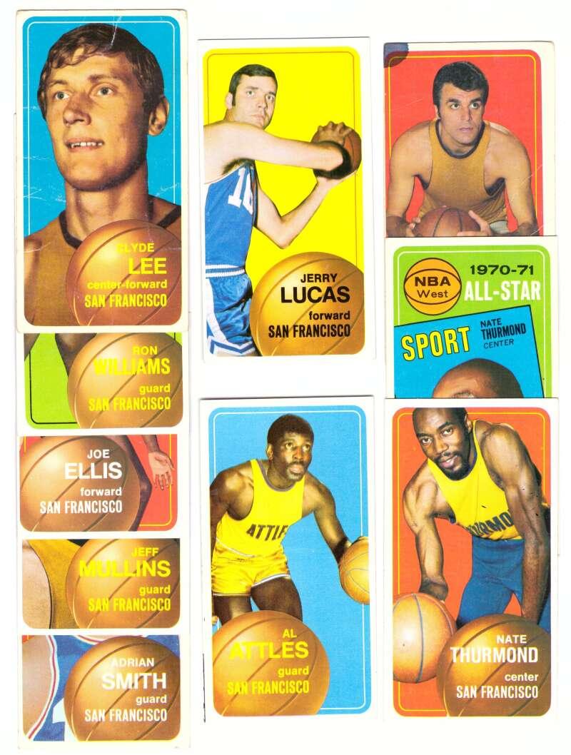 1970-71 Topps Basketball Team Set - San Francisco Warriors