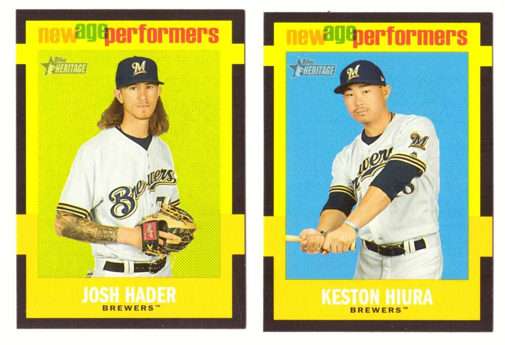 2020 Topps Heritage New Age Performers - MILWAUKEE BREWERS