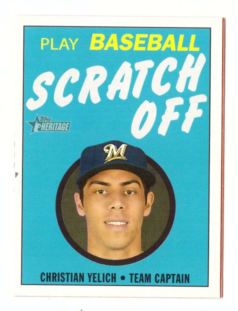 2020 Topps Heritage '71 Topps Scratch Offs - MILWAUKEE BREWERS
