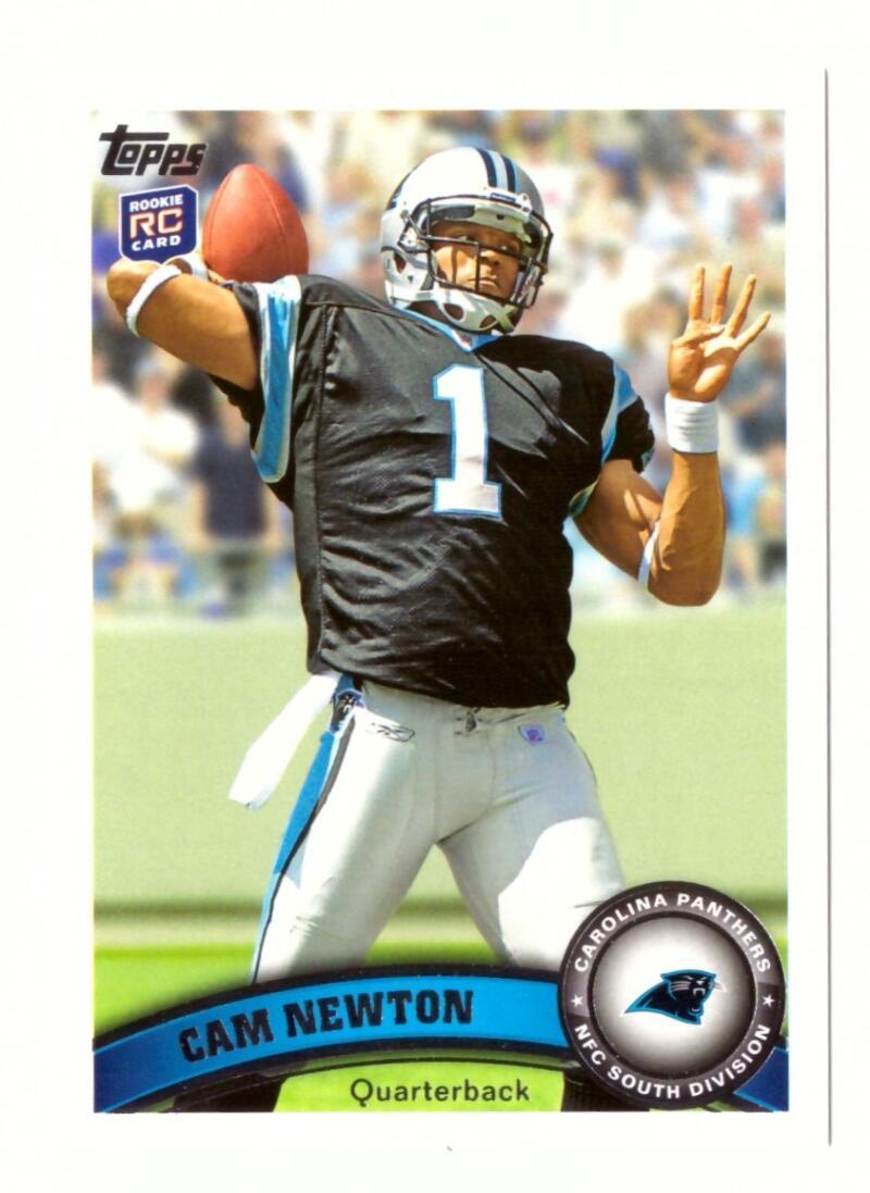 2011 Topps 200 Cam Newton RC w/Carolina Panthers Team Set #112611