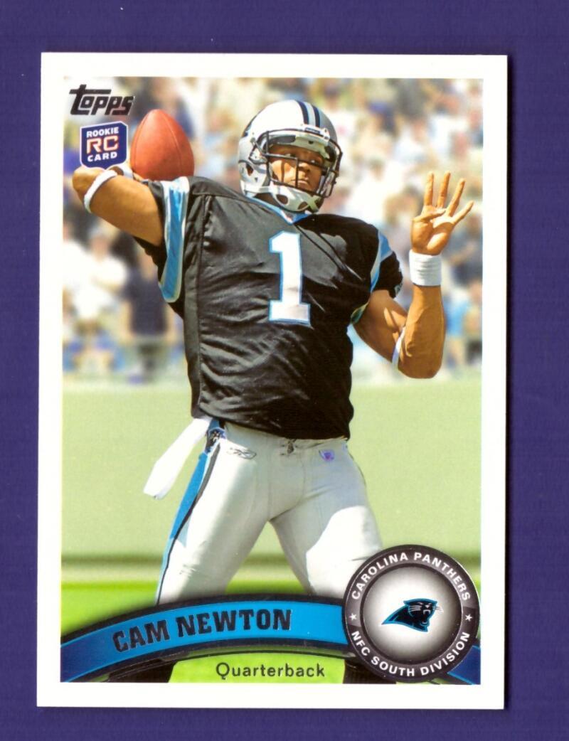 2011 Topps 200 Cam Newton RC w/Carolina Panthers Team Set #112612