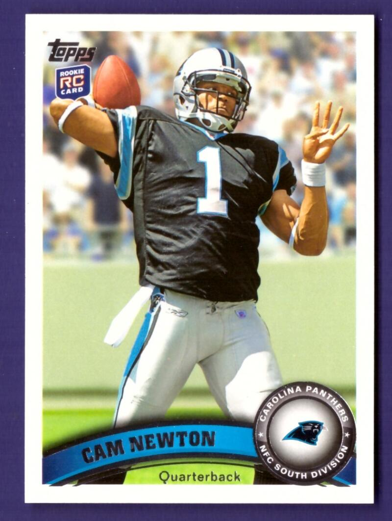 2011 Topps 200 Cam Newton RC w/Carolina Panthers Team Set #112613