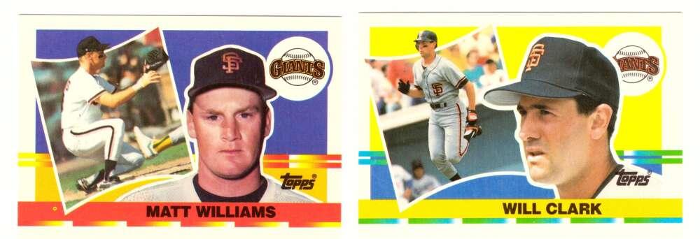 1990 Topps Big SAN FRANCISCO GIANTS Team Set