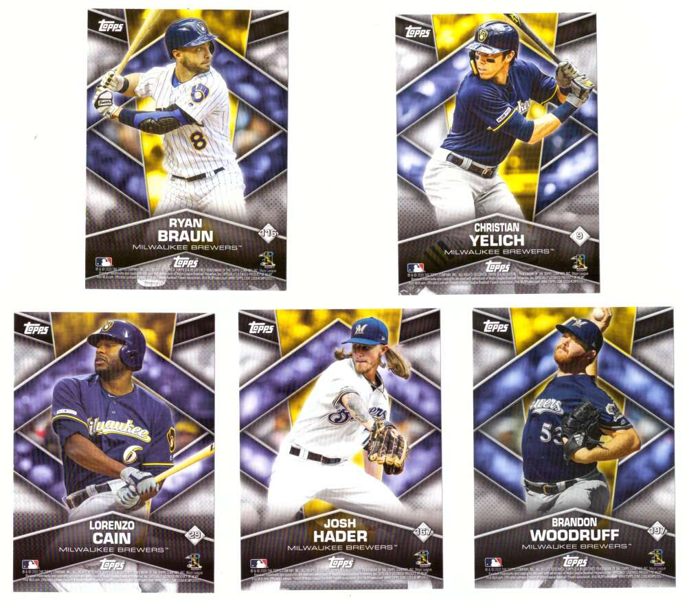 2020 Topps Stickers Cards - MILWAUKEE BREWERS Team Set