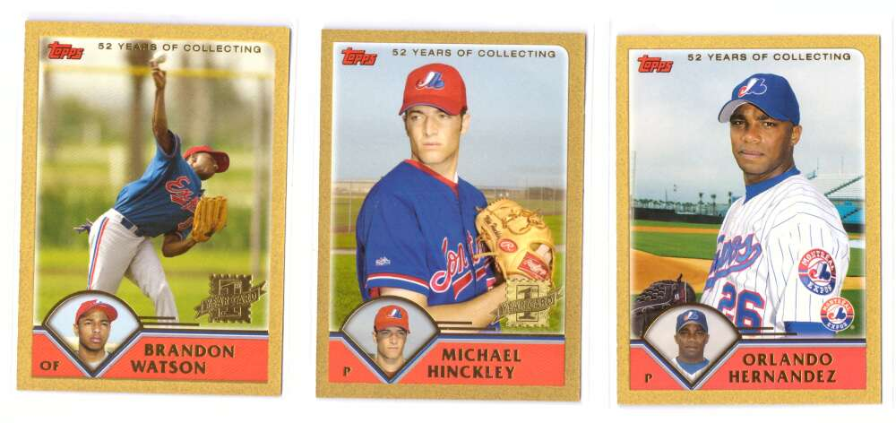 2003 Topps Traded GOLD - MONTREAL EXPOS Team Set