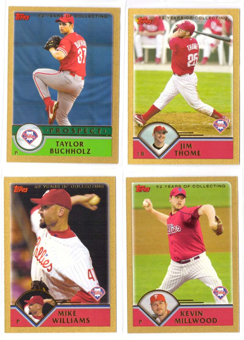 2003 Topps Traded GOLD - PHILADELPHIA PHILLIES Team Set