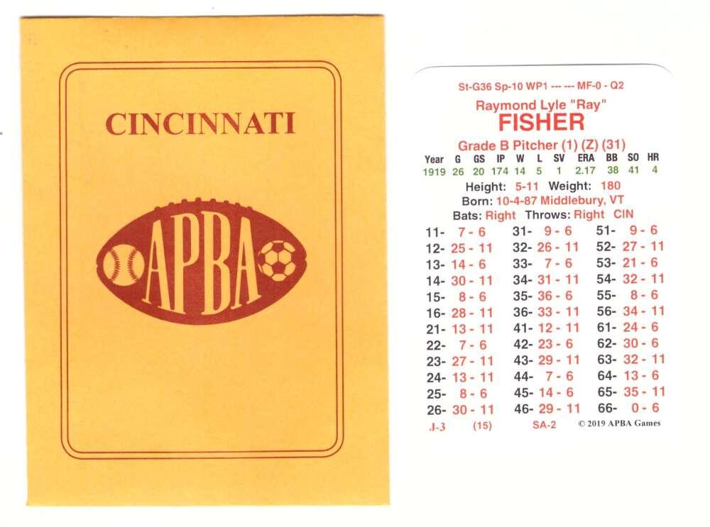 1919 APBA World Series Champions - Cincinnati Reds Team Set