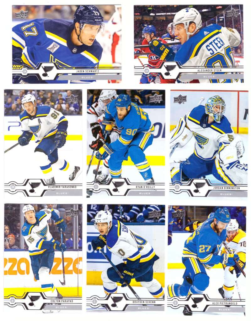 2019-20 Upper Deck (1-200, 251-450) Hockey Team Set - St. Louis Blues