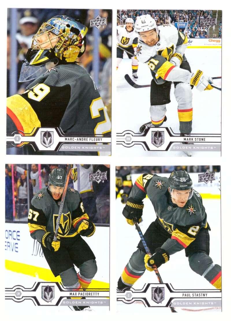 2019-20 Upper Deck (1-200, 251-450) Hockey Team Set - Vegas Golden Knights