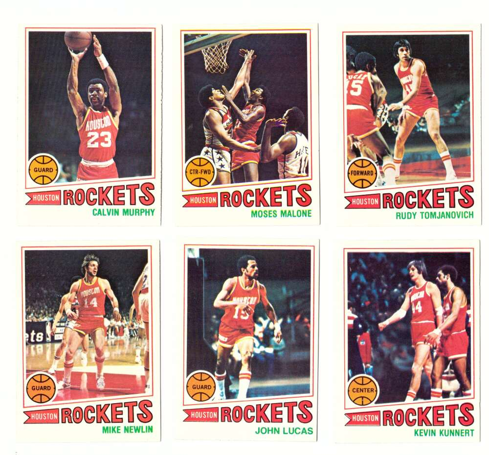 1977-78 Topps Basketball Team Set (A) - Houston Rockets