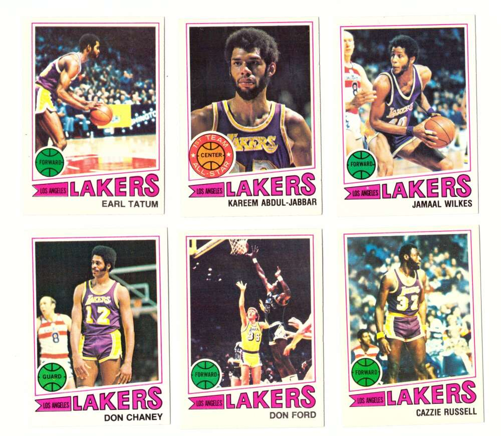 1977-78 Topps Basketball Team Set (A) - Los Angeles Lakers
