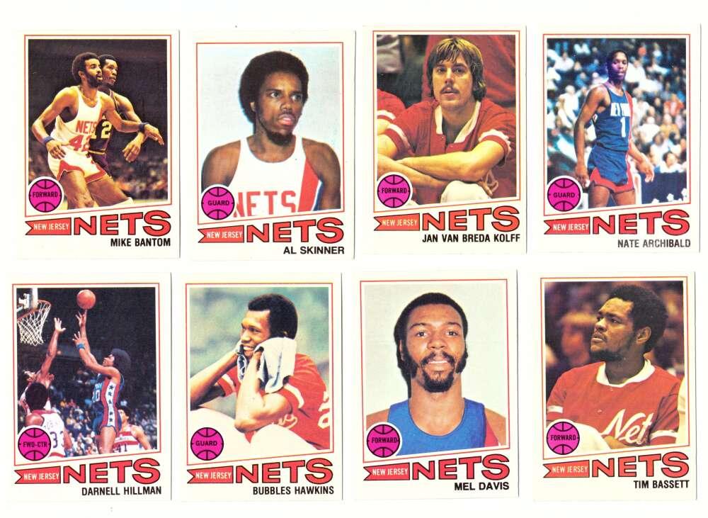 1977-78 Topps Basketball Team Set (A) - New Jersey Nets