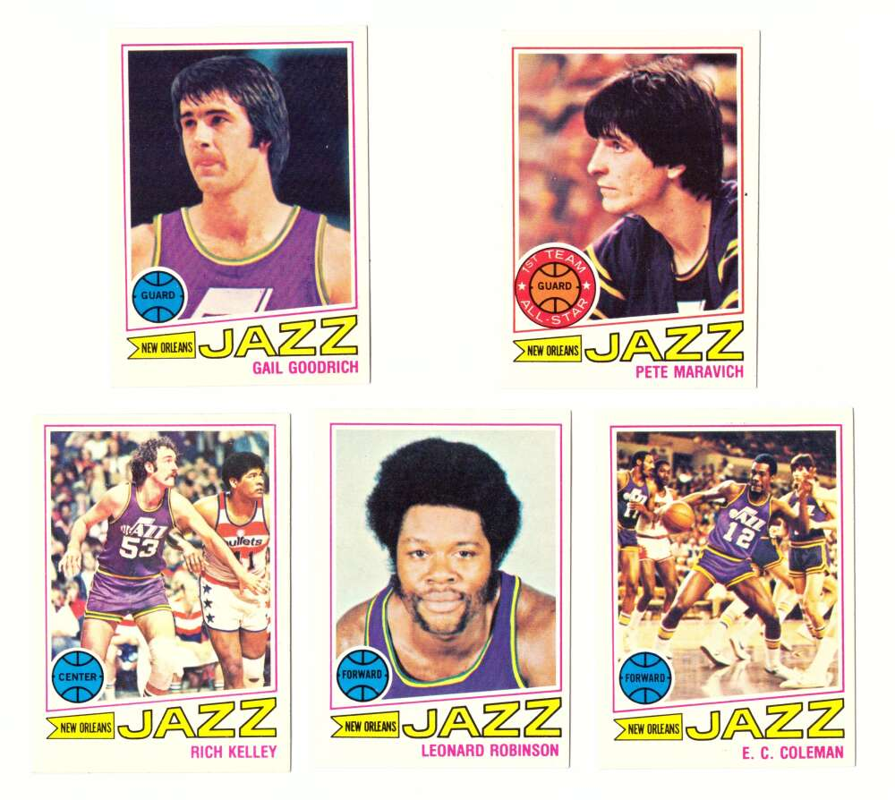 1977-78 Topps Basketball Team Set (A) - New Orleans Jazz