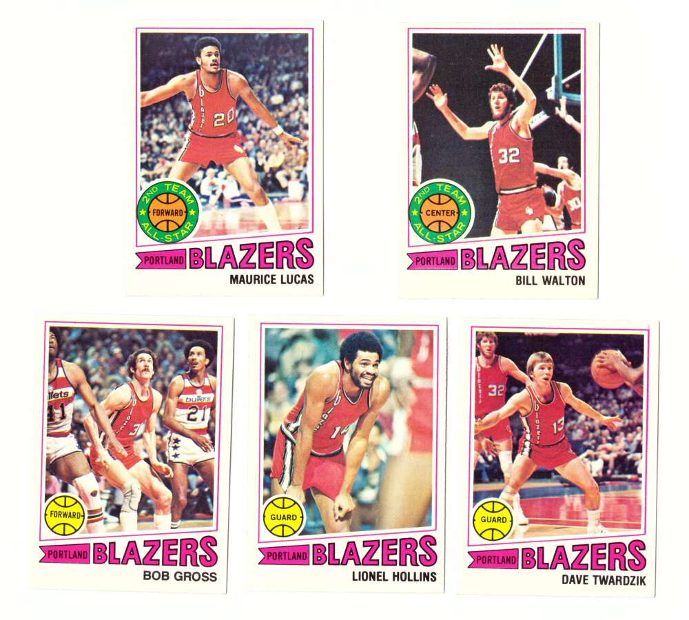 1977-78 Topps Basketball Team Set (A) - Portland Trail Blazers