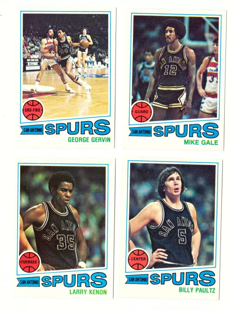 1977-78 Topps Basketball Team Set (A) - San Antonio Spurs