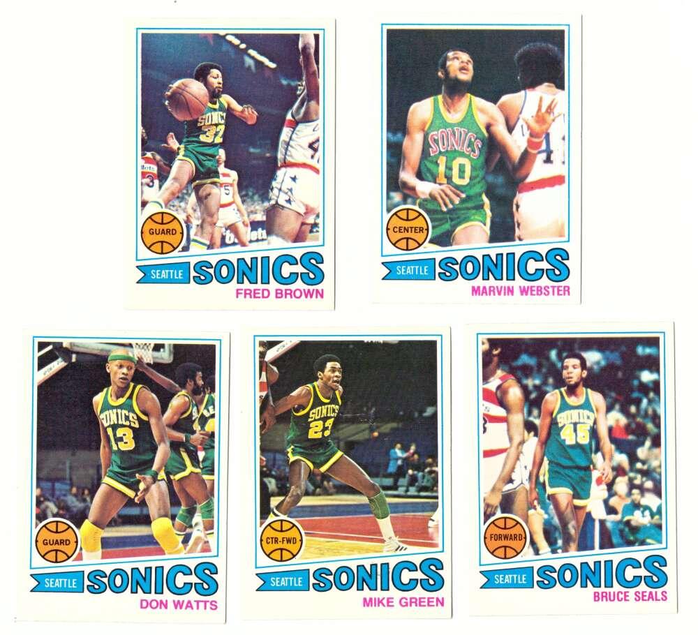 1977-78 Topps Basketball Team Set (A) - Seattle Supersonics