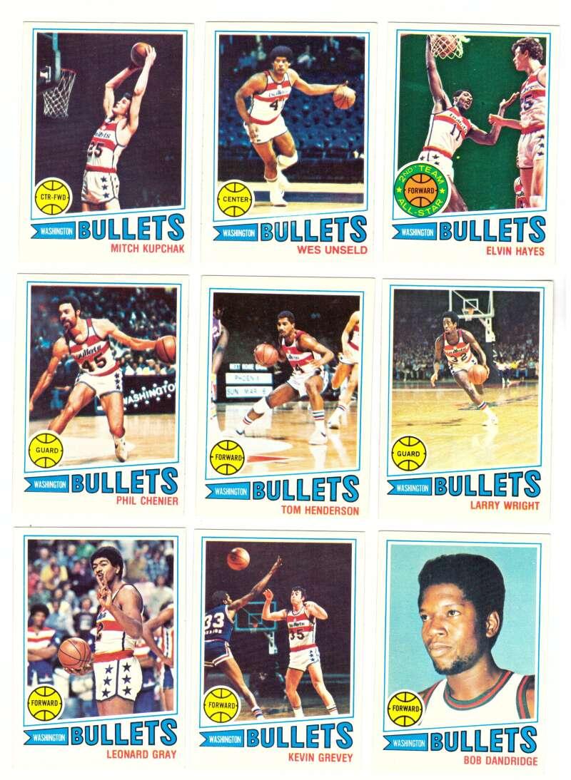 1977-78 Topps Basketball Team Set (A) - Washington Bullets