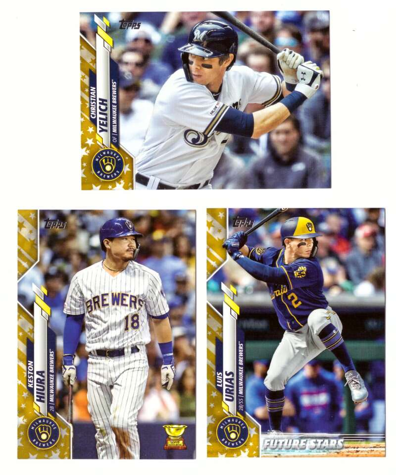 2020 Topps Gold Star from Factory Set - MILWAUKEE BREWERS Team