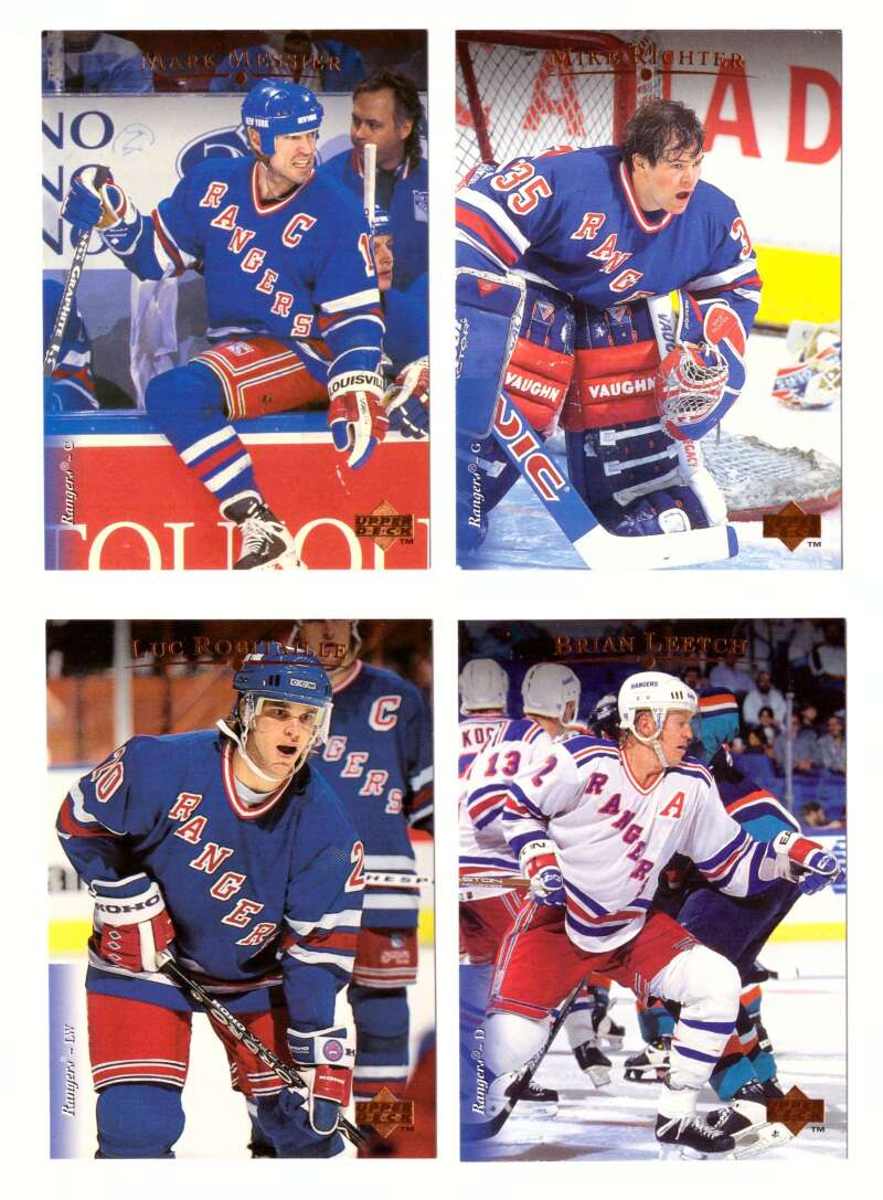 1995-96 Upper Deck Hockey Team Set - New York Rangers