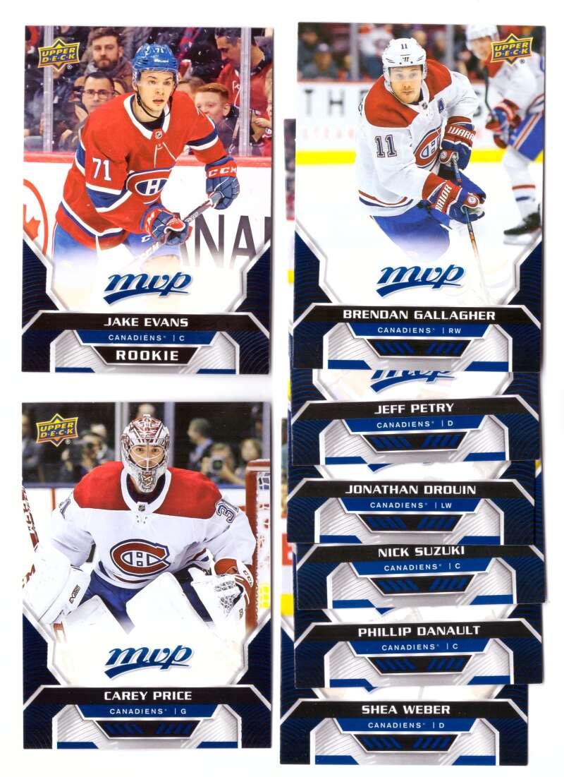 2020-21 Upper Deck MVP (1-250) Hockey Team Set - Montreal Canadiens