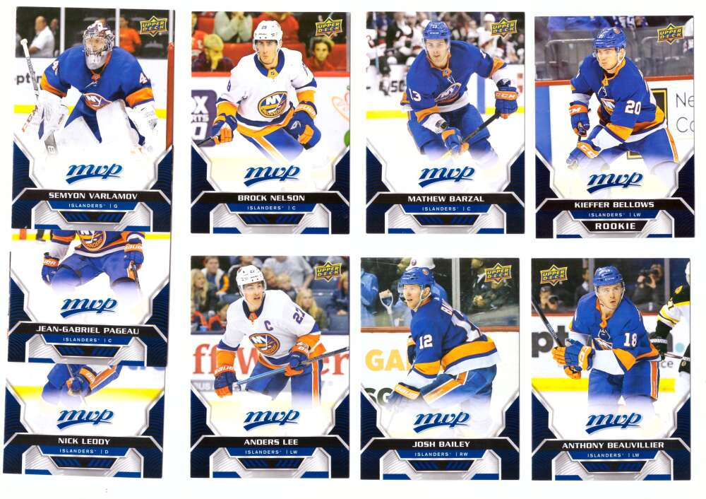 2020-21 Upper Deck MVP (1-250) Hockey Team Set - New York Islanders