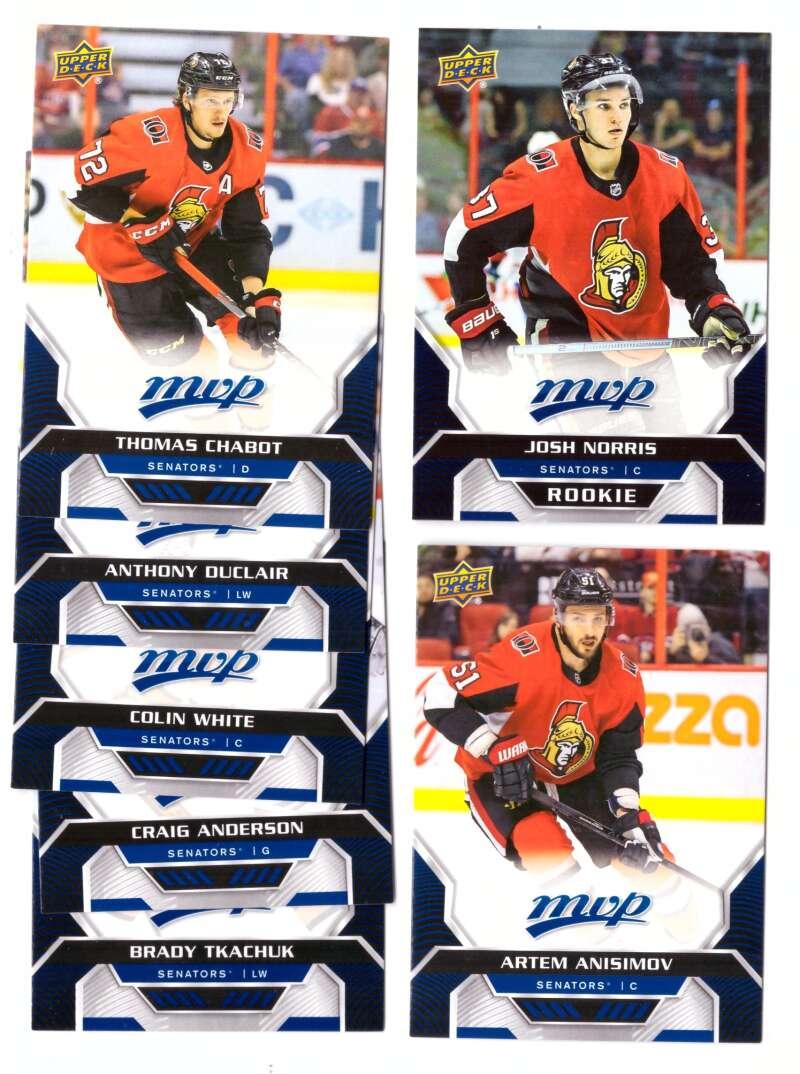 2020-21 Upper Deck MVP (1-250) Hockey Team Set - Ottawa Senators