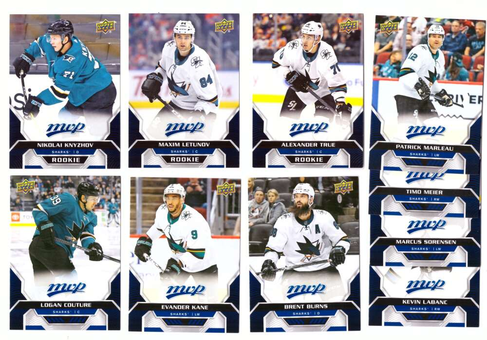 2020-21 Upper Deck MVP (1-250) Hockey Team Set - San Jose Sharks