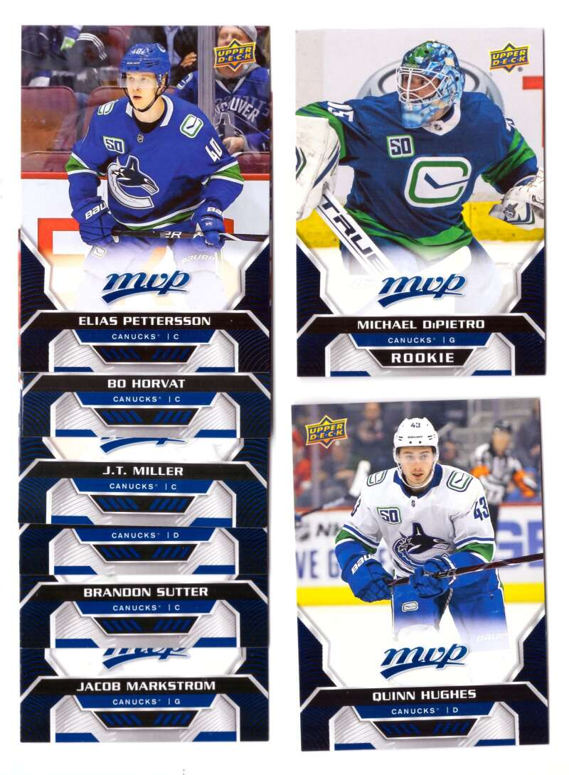 2020-21 Upper Deck MVP (1-250) Hockey Team Set - Vancouver Canucks
