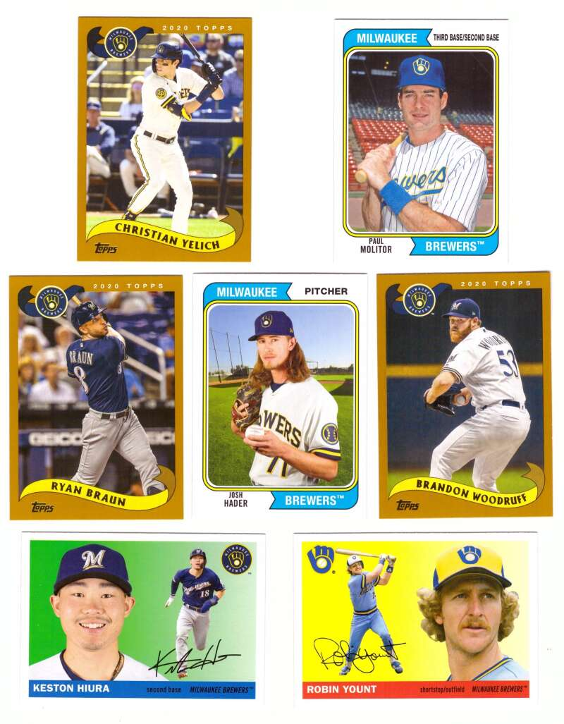 2020 Topps Archives (1-300) - MILWAUKEE BREWERS Team Set