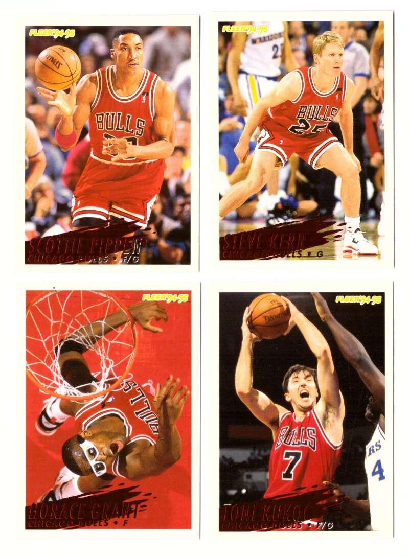 1994-95 Fleer Basketball Team Set - Chicago Bulls