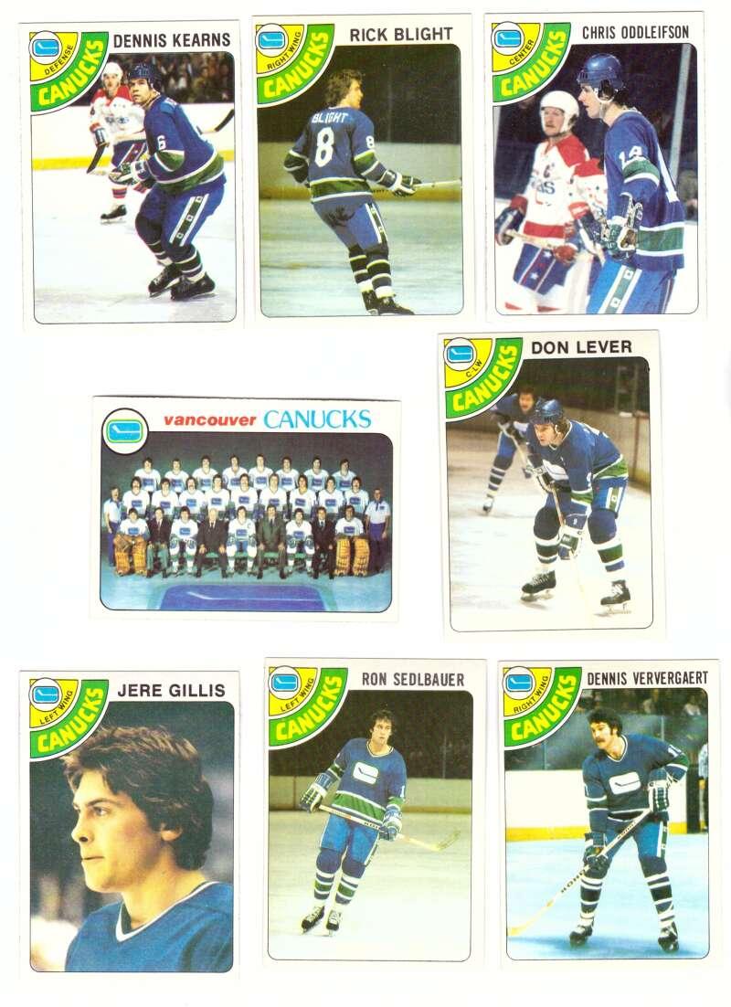 1978-79 Topps Hockey Team Set - Vancouver Canucks