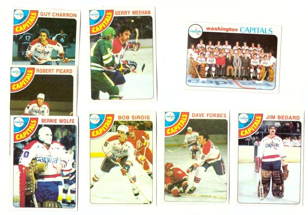 1978-79 Topps Hockey Team Set - Washington Capitals