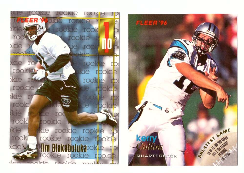 1996 Fleer Football Team Set - CAROLINA PANTHERS